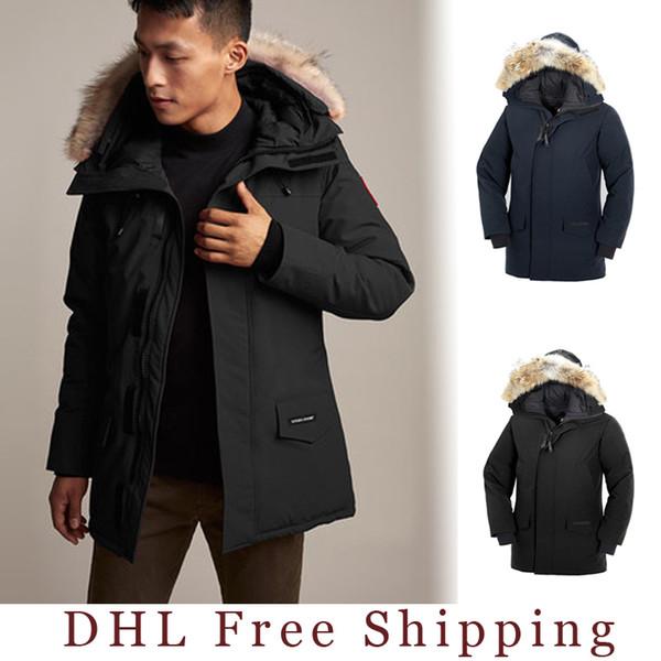 2019-2020 canada hommes langford parka doudoune 90% blanc tissu canadien manteau de plein air longue à capuche chaude Doudoune DHL livraison gratuite