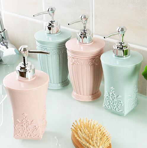 400ml Shampoo Empty Bottle Cosmetic Cream Lotion Containers Press Bottles Liquid Soap Dispenser Shower Bathroom Accessories