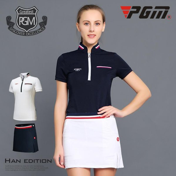 best selling Pgm Golf Women Summer Clothing Suit Woman Short Sleeve Shirt Skirt Apparel Quick Dry Sports Wear Skirts Sets D0352