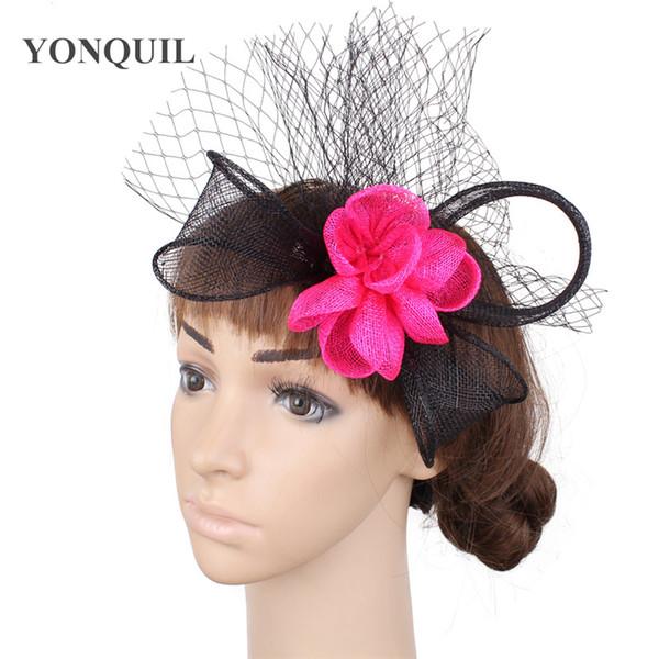 güzel çiçek el yapımı fascinator şapka saç tokası gelinlik moda şapkaya saç tokası zarif kadınlar şık gösteri fötr şapka