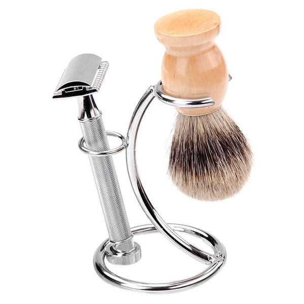 Shaving Brush Razor Frame Rack Alloy Barber Shaving Brush Holder Profesional Frame Stand Brush Rack Shelf Support Home Shaving Tool AB