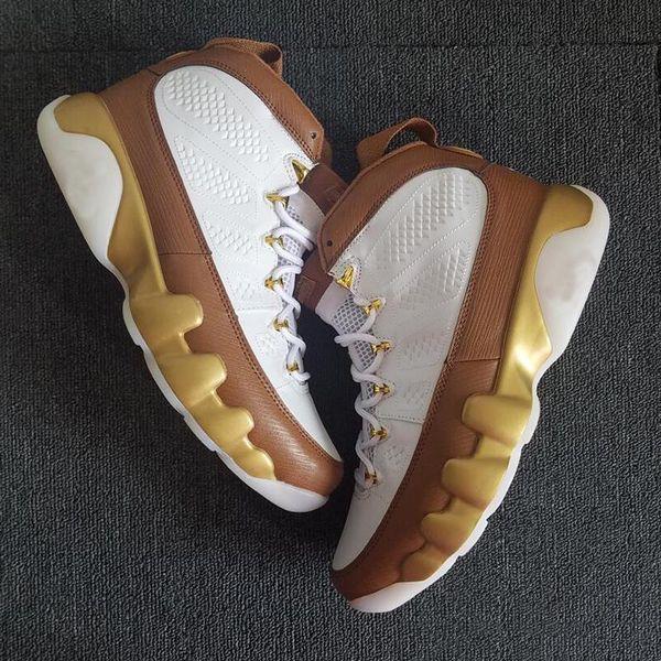 Zapatillas de baloncesto New Mop Melo Men 2018 para hombre 9s Oro marrón Diseñador Zapatillas deportivas 7-13 con caja