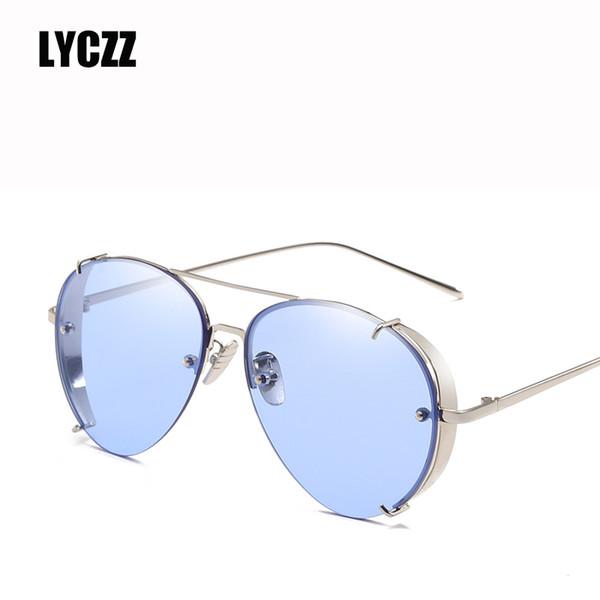 a0ac70e5a3 Lyczz Transparentes Moda Sol Lentes Gafas Compre De 5S3cjLR4Aq