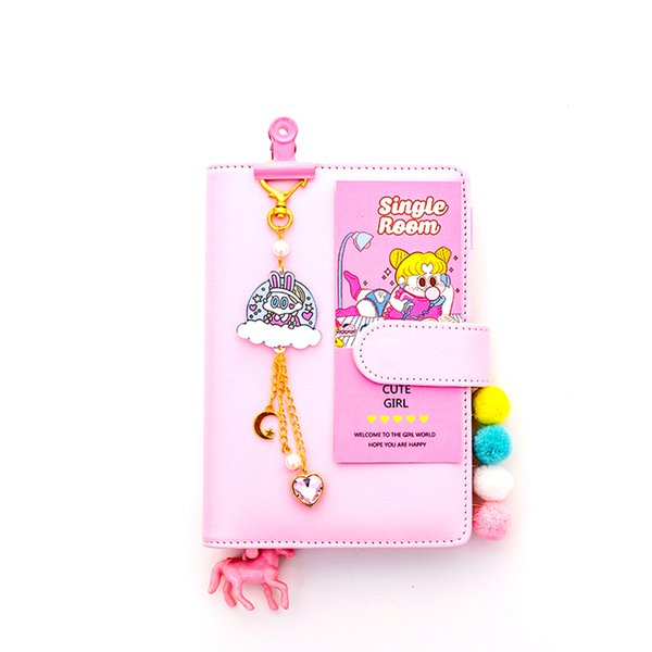 Cartoon Loose Leaf Notebook Stationery DIY Notebook Planner Kawaii Journal Girls Diary Organizer Student Daily Weekly Plan Gift