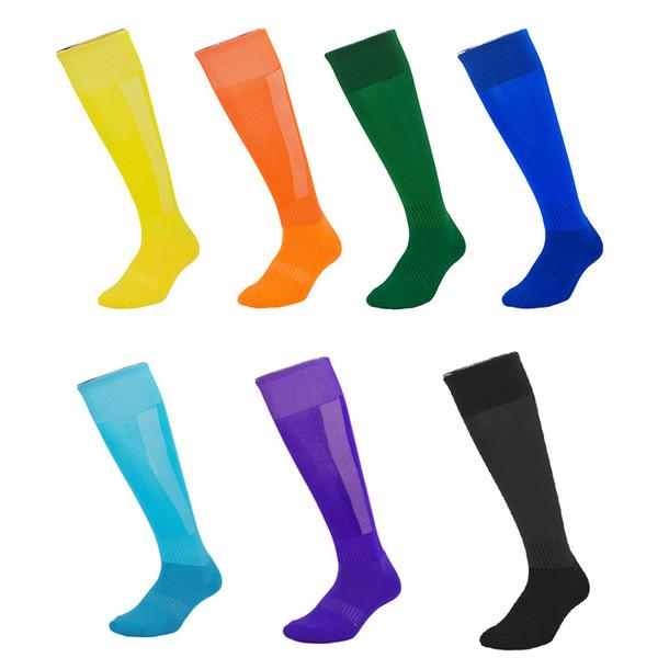 Hot Sale Sweat-Absorbent Kids Football Socks Adults Anti-Slip High Knee Long Stockings Jogging Running Outdoor Sports Socks High Knee M115Y
