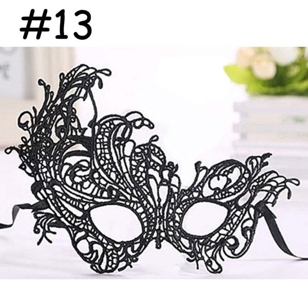 Fashion Lace Mask For Halloween Masquerade Ball Party Fancy Dress Costume #13 black mask cheap masquerade masks