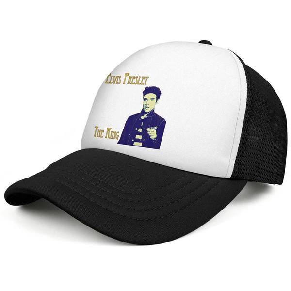 Король Элвис Пресли черные мужские и женские Регулируемые Подходящие шляпы Trucker дизайнер Роскошная сетчатая кепка Пигментные колпаки водителя грузовика