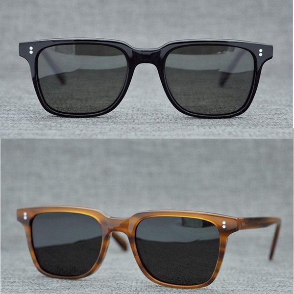 Vintage marca gafas de sol redondas Oliver Ploarized Gafas de sol para mujeres de los hombres Sun gafas redondas gafas de sol retras Negro Marrón con la caja
