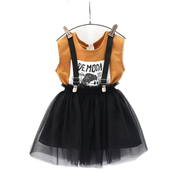 Mädchen Kleidung Set Sommer Brown Shirt Insgesamt 2 Stück Kinder Kleidung Set Mode Kinder Mädchen Outfits Kleidung Nette Sets