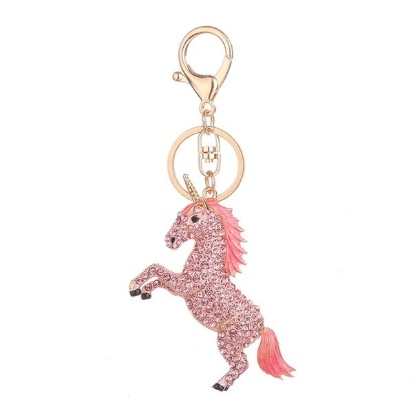 Horse Shape Keychain Lady Bag Pendant Accessories Pendant Key Ring Personality Key Chain Perfect Decoration