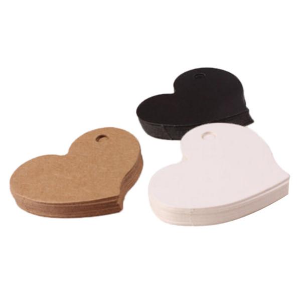50 шт. 4.5*4 см свадебный подарок тег DIY тег ценник форма сердца крафт-бумага карты партия пользу 3 цвета