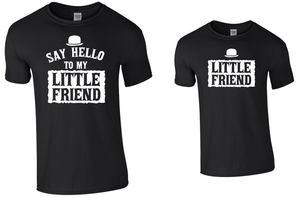 f1432e155 Say Hello To My Little Friend Tee Set Adult + Childrens Tee T-Shirt Men