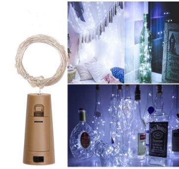 top popular String led Wine Bottle with Cork 20 LED Bottle Lights Battery Cork for Party Wedding Christmas Halloween Bar Decor Warm White 2020
