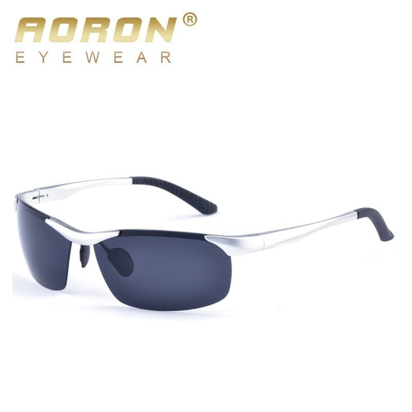 55511f059067 AORON New Brand Aluminum Men's Polarized Sunglasses Driving Coating Lens  Sun Glasses for Male Eyewear oculos