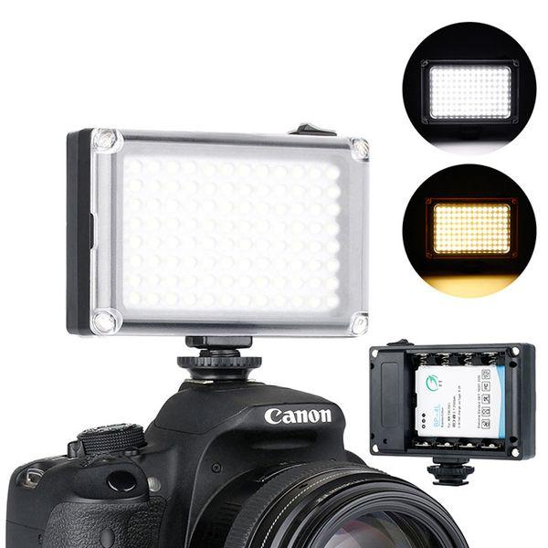 96 LED Telefon Video Işığı Fotoğraf Aydınlatma Kamerada Sıcak Ayakkabı LED Lamba iphone Xs Max X 8 Kamera Canon Nikon DSLR