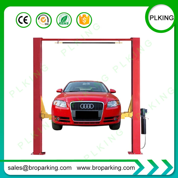 PLKING 2post clear floor car lift 2m with beam for sale