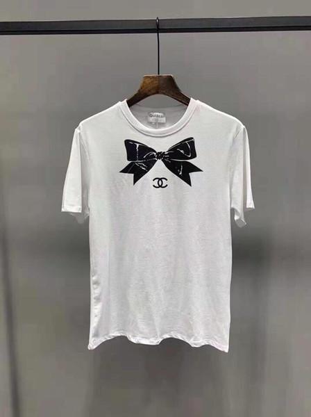 19ss новое прибытие Париж XNE груди бант футболки с круглым вырезом с коротким рукавом летом тройник животных дышащий жилет рубашка уличная мебель на футболки