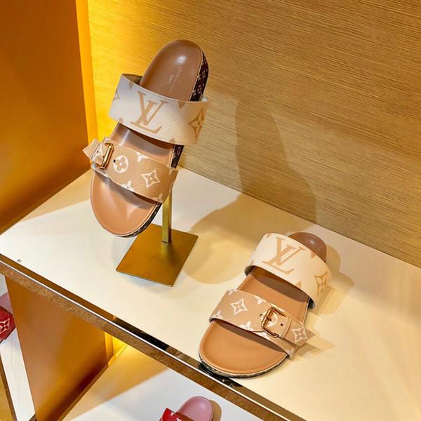 2019 neue mode luxus designer frauen flip flops superstars drucken echte leder flache sandalen für frauen klassische casual schuhe sand drag