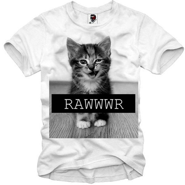 T-SHIRT TIGER CAT CAT HIPSTER BLOGGER ELEVEN DJ 847c Short Sleeve Plus Size t-shirt colour jersey Print t shirt