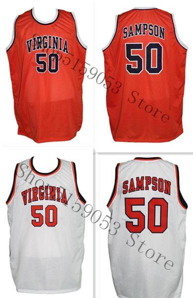 Ralph Sampson 50 personnalisés College Basketball Jersey broderie Cousu Personnaliser un nombre et jerseys de