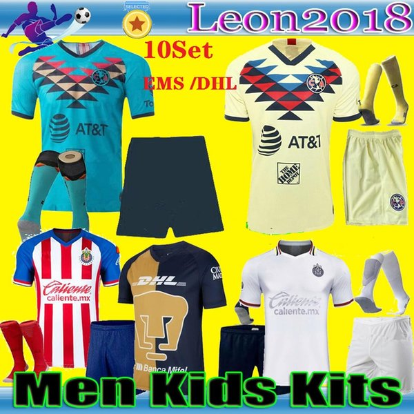 top popular 20 21 men kids Mexico Club de Futbol America soccer jersey kits 2020 chivas Guadalajara Football Shirt set UNAM Pumasl uniform 2020