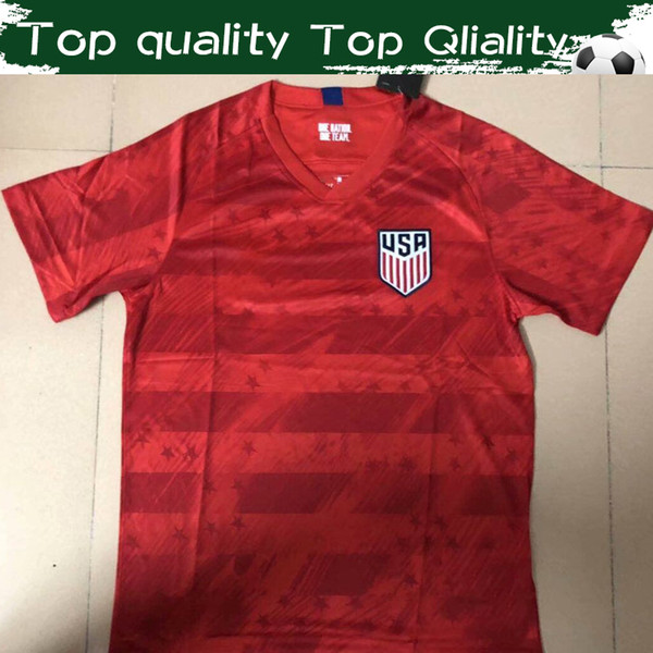 2019 America Away Red Soccer Jersey 19/20 United States Away Football Shirt USA #10 PULISIC Football Uniform On Sales