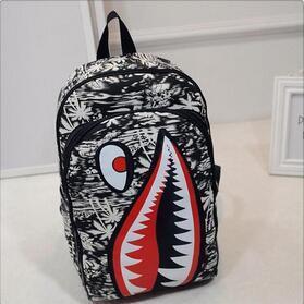 Compre Overseas2019 Ambos Os Desenhos Animados Pacote De Ombros Outono Tubarão Boca Mochila De Viagem Personalidade Estudante Um Saco De