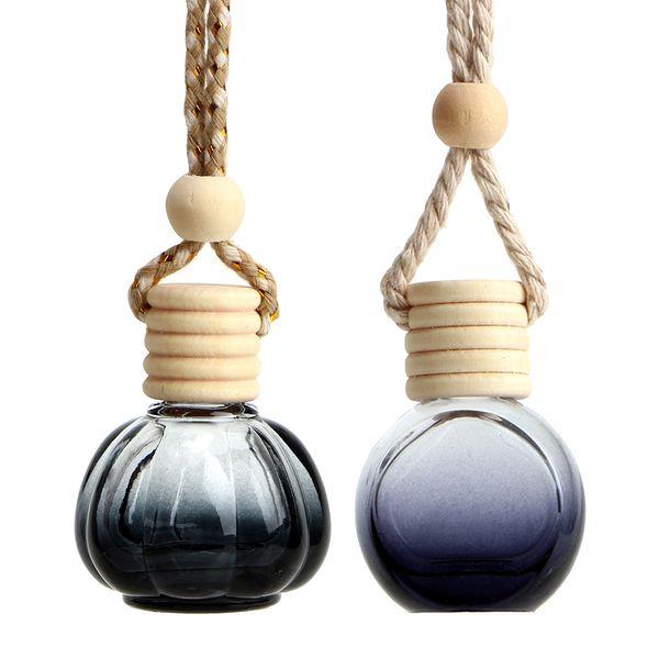 Perfume Colgando Ambientador de coche para Aceites Esenciales Difusor Espejo retrovisor colgante Perfume Botella de cristal vacía de coches-estilo
