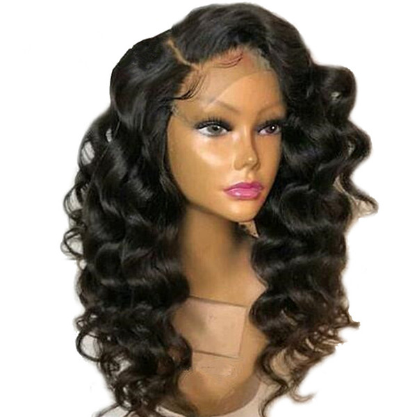 New Arrived Unprocessed 100% Virgin Human Hair Loose Wave Swiss Lace Front Wigs Top Selling In Stock