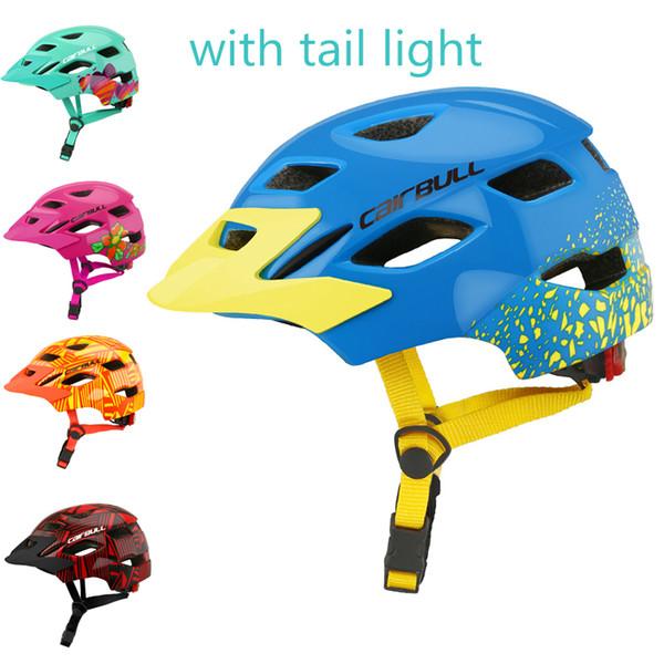 Сверхлегкий детский велосипедный шлем детский спортивный велосипедный шлем с задним фонарем дети катание на коньках велосипедные шлемы 50-57см