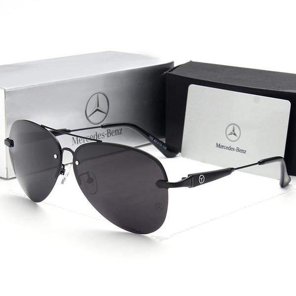 Alta Qualidade 2019Mercedes-Bens 743 Moda Tendência Óculos De Sol Dos Homens e mulheres 62mm UV400 Lente Polarizada Eyewear Ray Óculos Bane Marca
