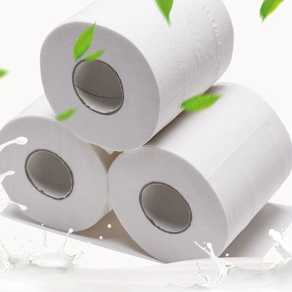 top popular White Toilet Paper Rolls Tissue Pack Of 10 Rolls Lot 3Ply Towels Tissue Household toilet tissue paper 2020 2021