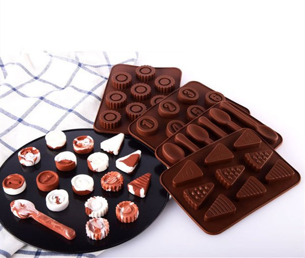 Chocolate Cake Mold Silicone Round Digital Cartoon Geometric Ice Mold Candy Cookies Baking Special Appliances Mold