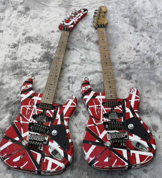 best selling High Quality Electric Guitar, Eddie Van Halen Best quality Guitars, aged relic st, upgraded quality hardwares, shipped quick
