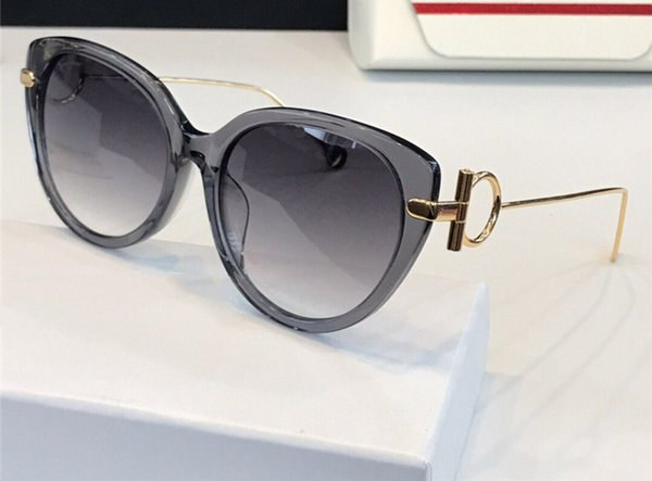 New Luxury Designer Brand Sunglasses 919 Cat eye Frame glasses Simple and compact design of metal Eyewear UV400 protection with case