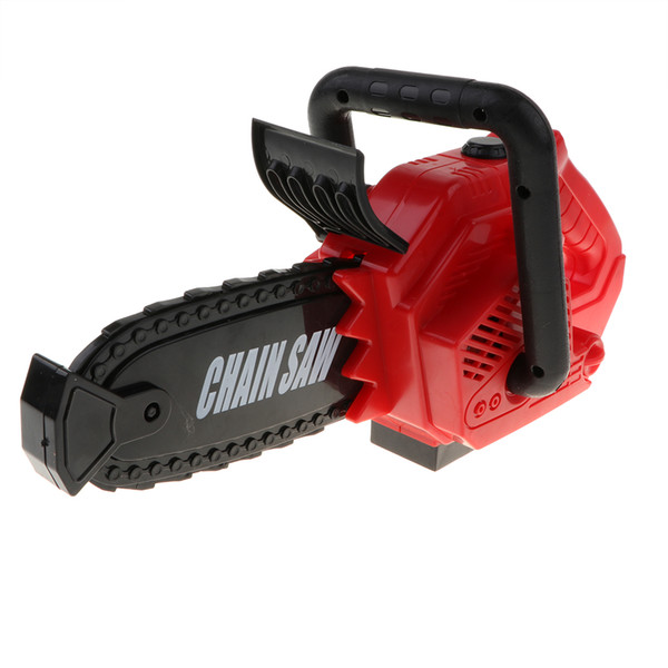 Kids Children's Power Construction Tool Electric Chainsaw Toy Set with Real Motor Sound