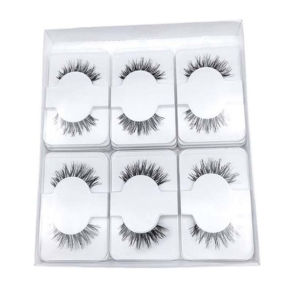 Free Logo Printing Human Hair Lashes Transparent Band Natural Eyelashes Handmade Comfortable cilios Reusable Wispy false Eyelashes Extension
