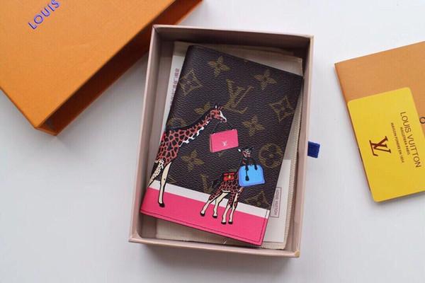 Nouveau Top qualité unisexe petit court Portefeuille sac à main femmes Monogrram en toile Titulaire de la carte poche en peau de vache lion Bourse sac à main original boîte M62089