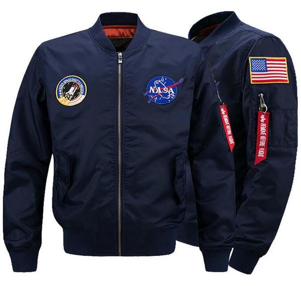 Military-Jacken für Männer Bomber Nasa Jacke Windschutz Herbst-Winter-Mäntel Warm Outwear Cotton Padded Overcoat Big Size