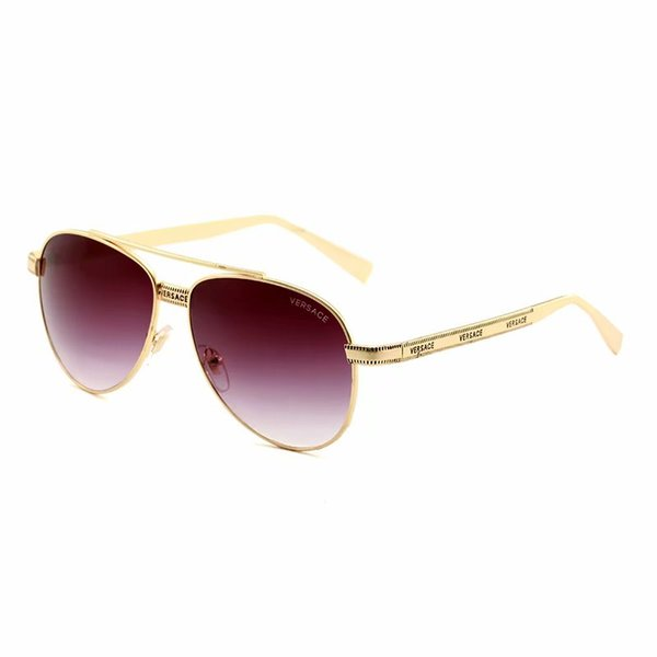 sunglasses for men Shiny Gold Logo Hot sell Gold plated Top 96006