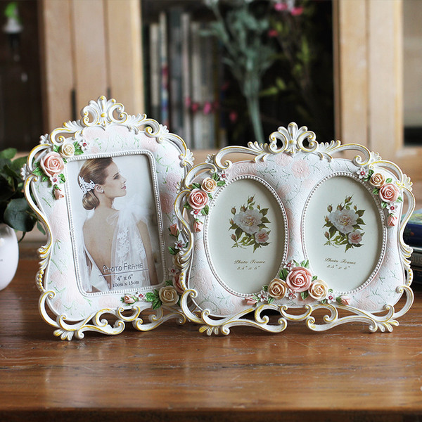 Dekoration-Halter-Bild-Harz-Rahmen-Tat, die Weinlese-Foto-Rahmen, Hochzeits-Geburtstagsgeschenk, freies Verschiffen J190716 malt