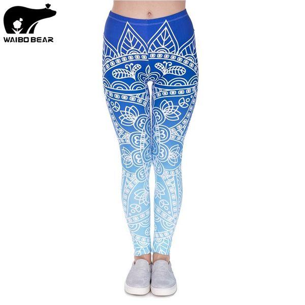 Seksi Silm Legins Tayt Kadınlar Yüksek Bel Streç Pantolon Pantolon 3D Baskılı Spor Tayt Kadın Şınav Seksi WAIBO AYı