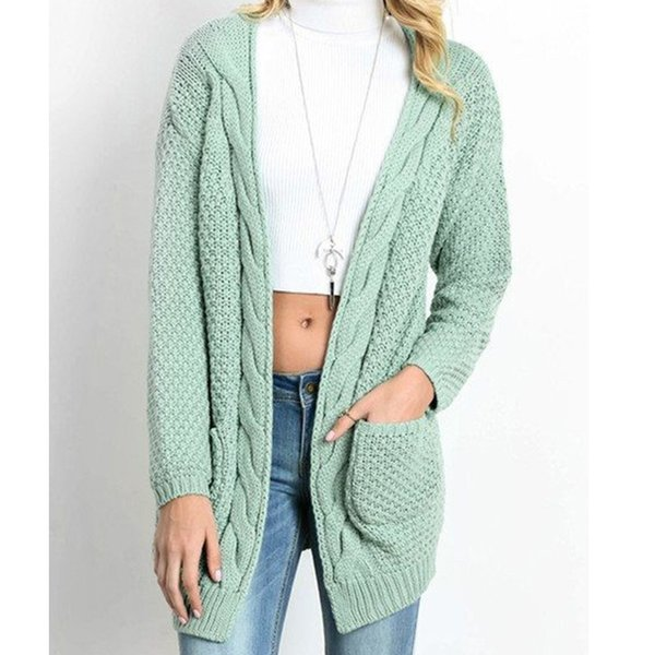 Womens Knit Cardigans 19 Spring Autumn Twisted Long Sleeve Slim Fit Knitwear 11 Colors Femme Knitted Outfits S-3XL
