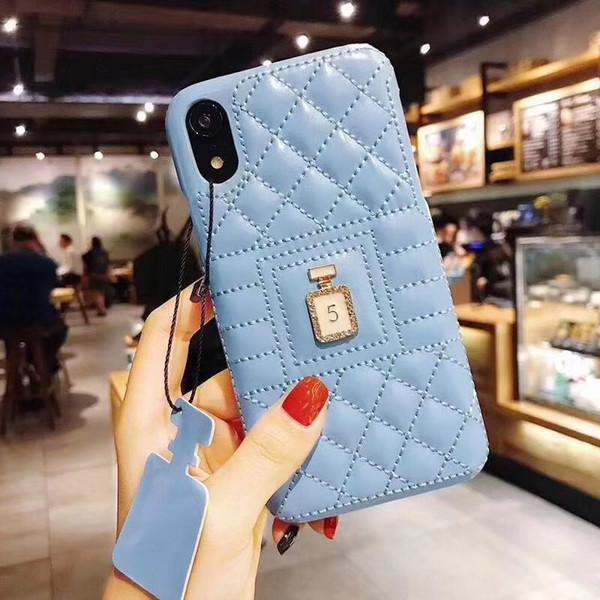 Mytoto Fashion diamond perfume bottle soft leather hard phone case for iphone 7 7plus 6 6s plus 8 8plus X XR XS MAX cute coque