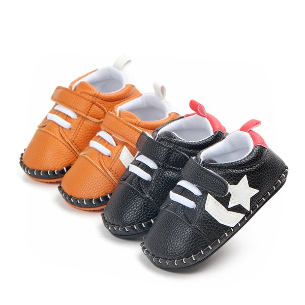 Princesses Baby Shoes for Girls Newborn Babies Artificial Leather Flower First Walker Prewalkers Boys Shoes for Babies Comfort for Little Gi