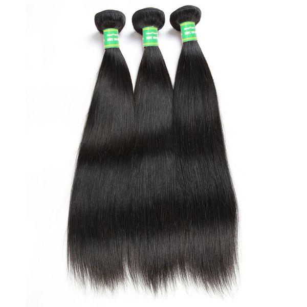 Grade 8A Remy Menschenhaar Glattes Haar 3 Bundles 8-28 Zoll Menschenhaar bündelt 100g brasilianische Jungfrau-Haare indische Perruques