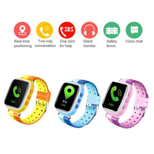 Q80 crianças Posicionamento GPS Moda Chamada relógio inteligente criança alarme pulseira Cor da tela de toque do bebê SOS homens Inteligente wristWatch