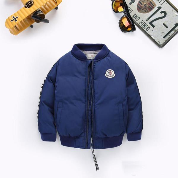 2019 Sıcak satış marka Erkek Aşağı Parkas Ceketler Kış Ceket Erkek Moda Çocuklar Çocuklar Için Kalın Mont Rüzgarlık Ceketler