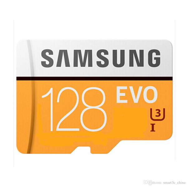 Оптовая Samsung новый 32G-128g U3 карты памяти C10 100MB / s EVO Micro SD Card 4K Ultra HD мобильная карта памяти Class10 16GB-U1