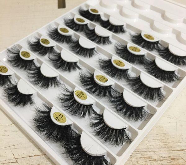 12 estilos 25 milímetros de cabelo vison longo 3D cílios postiços para fazer versão cílios alongamento à mão 10 conjuntos frete grátis epacket